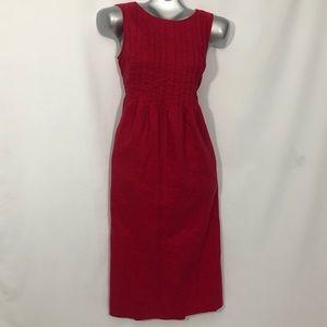 LIZ CLAIBORNE vintage linen maxi dress side pocket